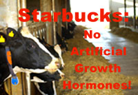 Starbucks: No Artificial Growth Hormones!