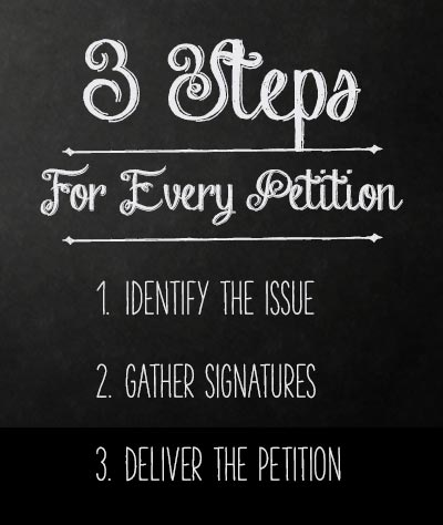 Amazing How To Make A Petition