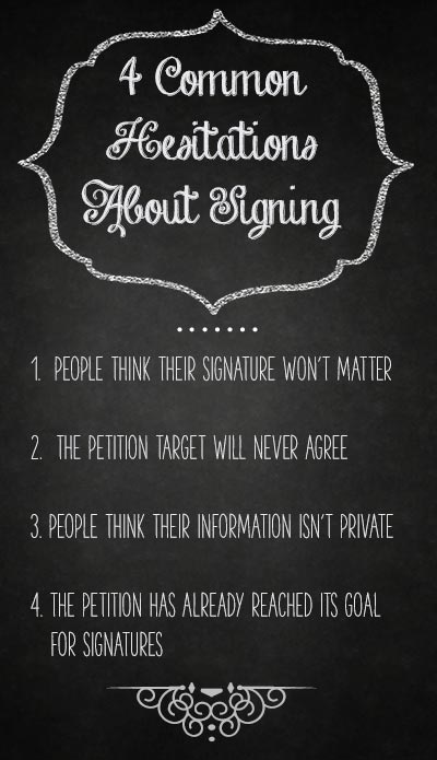 Four myths about petitions