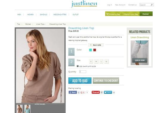How to buy linen tops? Visit http://www.justlinen.com/