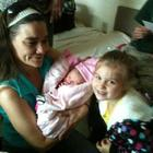 Me, My Oldest Granddaughter Jazzy and my newborn Granddaughter Ryleigh