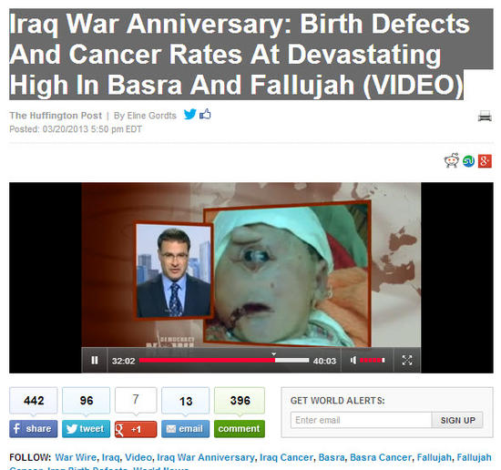 Birth Defects & Cancer Rates At Devastating High In Basra & Fallujah