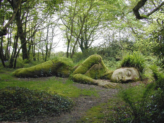 'Mud Maid'- Sculpture of a sleeping goddess