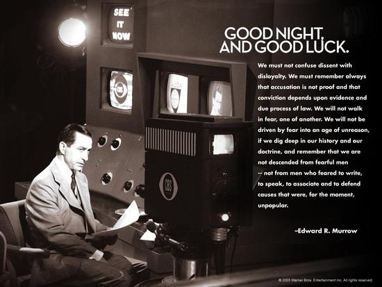 Good Night & Good Luck, Edward R Murrow