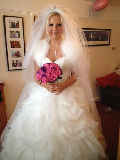 New Gemma in her wedding dress.JPG