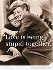 Love is stupid together
