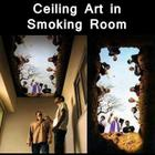 Creative Ceiling Art in a Smoking Room