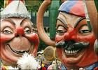 Two Schwellkoepp (swell heads) symbol figures of the carnival in Mainz AFP DDP Thomas Lohnes.jpg