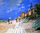 Beach at Trouville by Monet