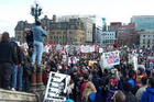 CANADIANS on PARLIAMENT HILL against BUSH