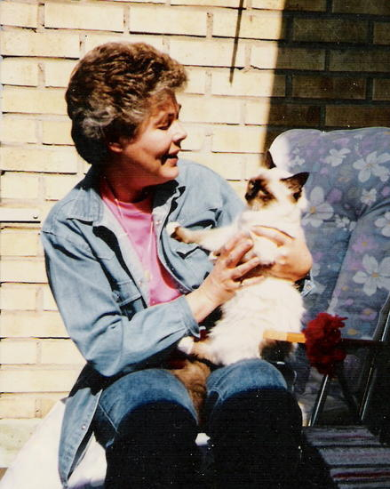 Mum and Simson 1989 or 1990