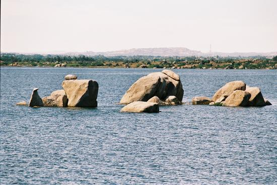 Rocks, Water, Sky and Hills