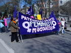 The banner reads: Feminist struggle against patriarchy