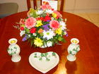 Birthday  Flowers  N Candle Holders  N Candy Dish