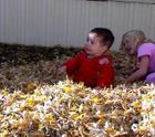 Christian in the Autumn Leaves in Utah