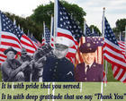 """It is with pride that you served.  It is with deep gratitude that we say """"Thank You"""""""
