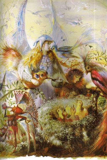 Fairy Art  The Bird Nest by John Anster Fitzgerald.jpg