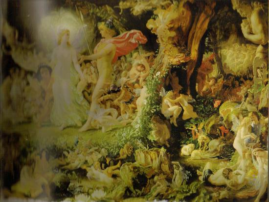 Fairy Art  The Quarrel of Oberon _amp_ Titania by Sir Joseph Noel Paton.jpg