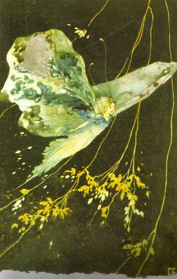 Fairy Art Fairy with Wings by Charles James Folkard.jpg