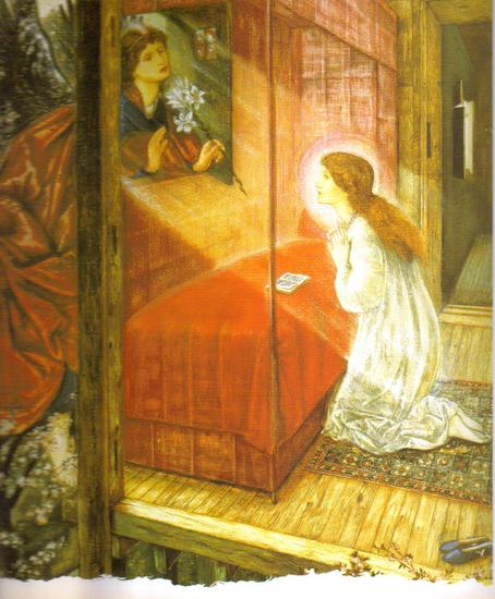 Fairy Art The Annunciation-The Flower of God 1862  by Sir Edward Coley Burne Jones.jpg