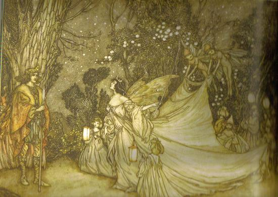 Fairy Art  The Meeting of Oberon and Titania by Arthur Rackham_001.jpg