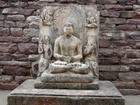 Seated Buddha at Sanchi Stupa