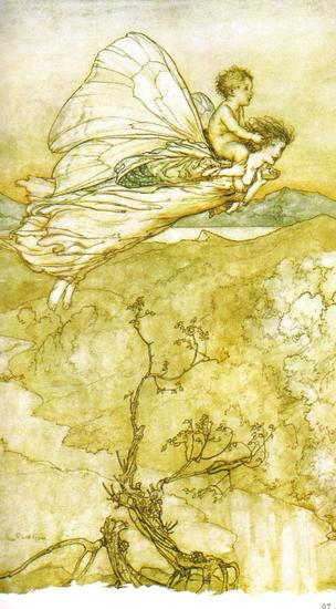 Fairy Art  A Fairy Stealing a Child 1908 by Arthur Rackham.jpg