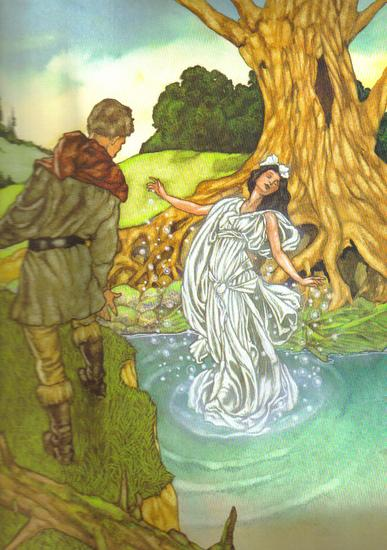 The Water Fairy Arose from the River
