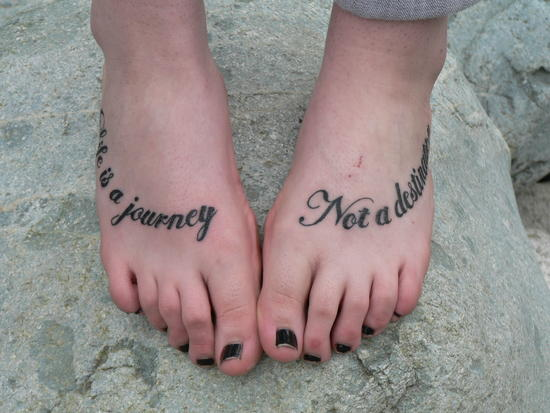 Tatooed tootsies!