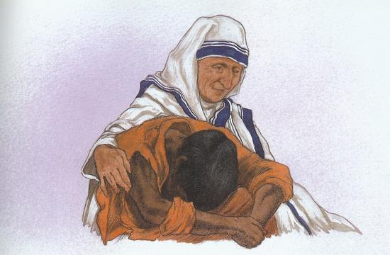 Michael Hague The Childrens Book of Heroes Mother Teresa 65.jpg