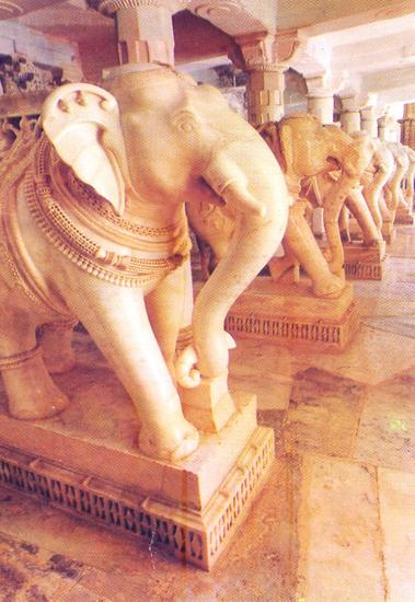 Elephants in marble