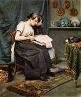RichardThomasMoynanGirlsReadingANewspaper1885Oil.jpg