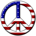 usa flag peace cutout