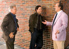 Martin Sheen, Jack Nicholson and Mark Walberg in The Departed