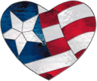 stained glass flag heart