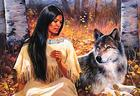 Native and wolf