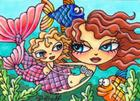 """Mommy and Me"" Original ACEO by Artist: Candice Dillhoff"