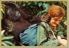 Dian Fossey and Puck
