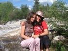 Jen and I at Tulabi Falls