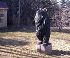Black bear carving