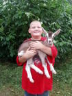 Aaron with Baby Goat