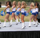 Dallas Cowboy cheerleaders practicing