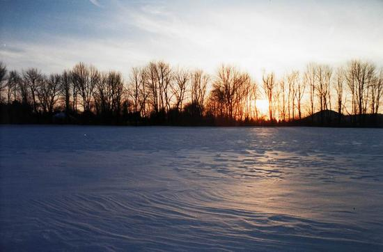 Winter Sunset 1988 02