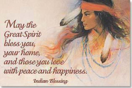 Indian blessing