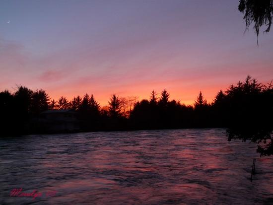 Sunset on the Winchuck River