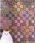 Cat in Front of Quilt