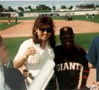 G with Dusty Baker at Spring Training