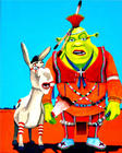 Shrek & Donkey in Native dress