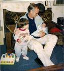 Grandpa & Alex and Ricky at 1week old