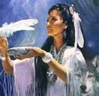 Woman with Wolf Spirit